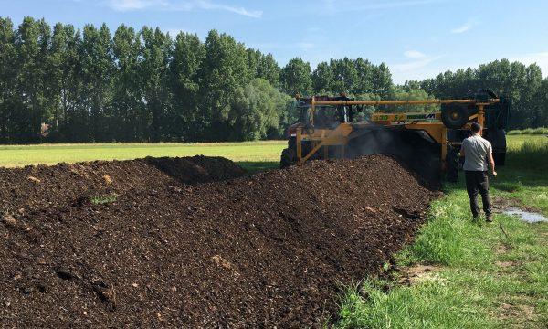 farm compost pile
