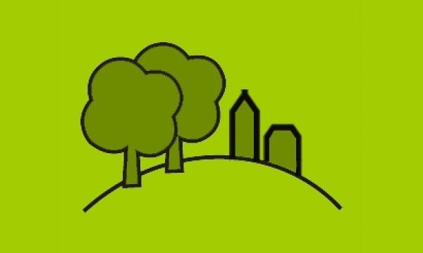 Icoon landschap groen