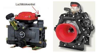 Pomp met luchtklok - Zuigermembraanpomp 6 cylinder