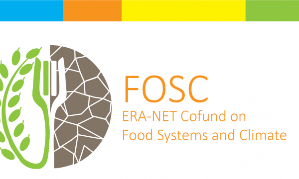 FOSC logo: plant, fork, soil ERA-Net Cofund on Food Systems and Climate