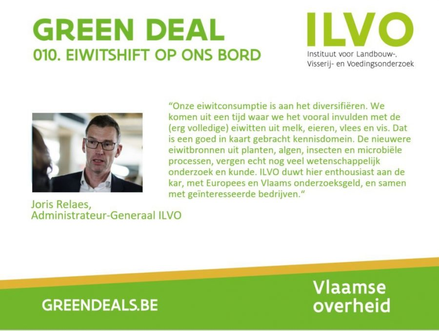 Flyer Green Deal with picture of Joris Relaes