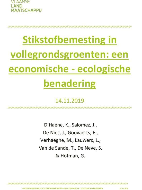Report in Dutch on nitrogen fertilization of arable crops