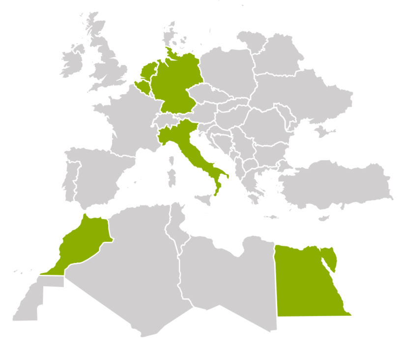 Map Europe and North Africa
