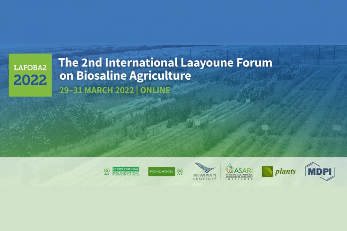 Banner Laayoune forum on biosaline agriculture