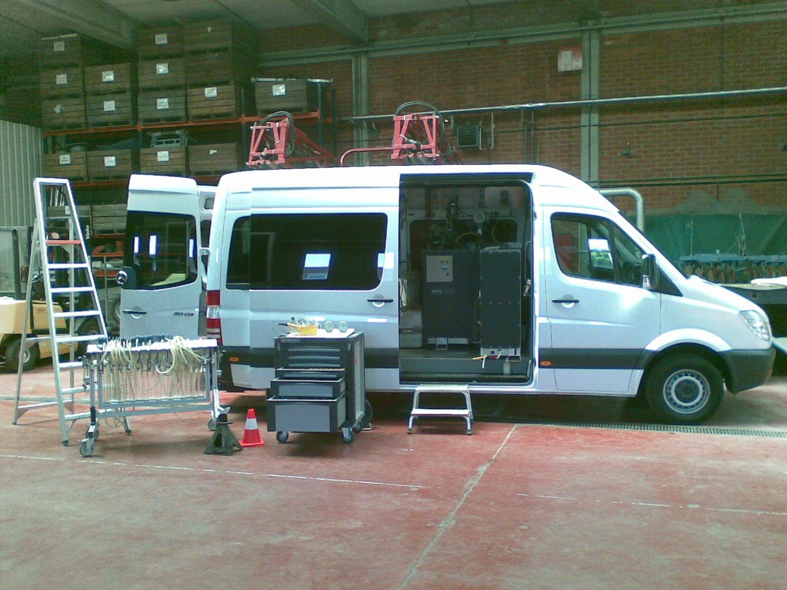 Sprayer inspection van