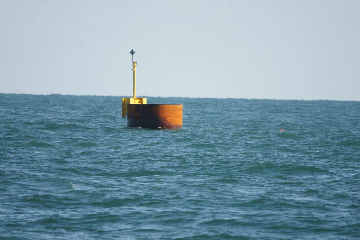 Een proefopstelling op open zee.
