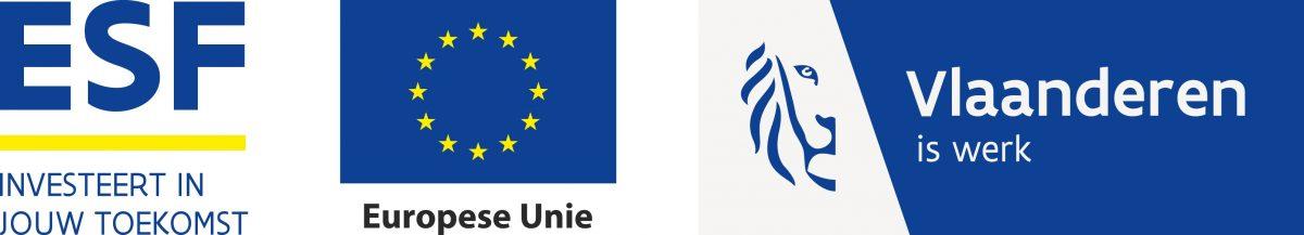 Logo ESF EU en Vlaanderen is werk