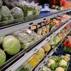 Groentenafdeling supermarkt