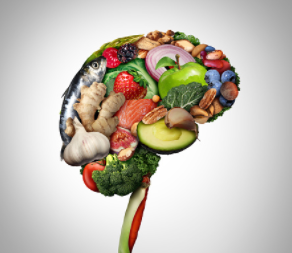 Brain made of healthy veg and fruit