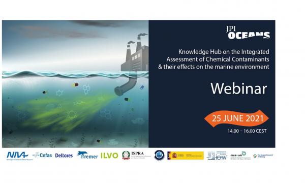 flyer van het event, met illustratie van watervervuiling