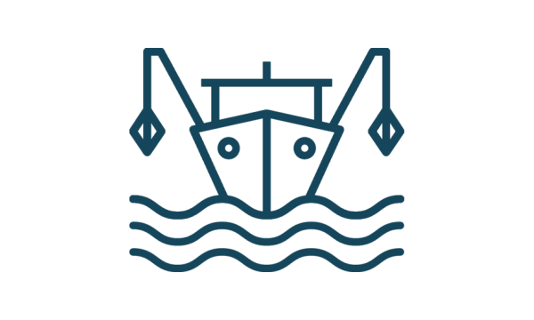icon of a fishing vessel