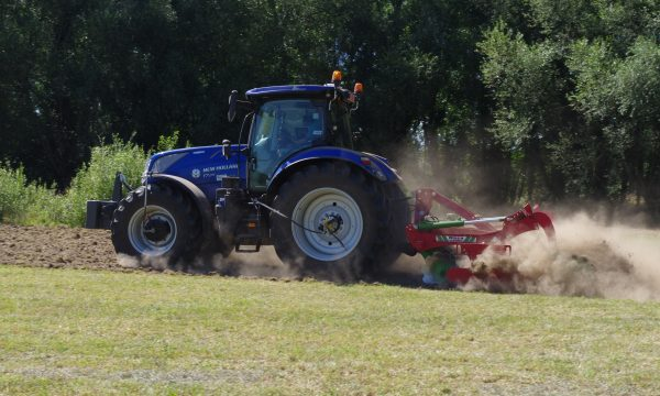 Tractor demonstrating minimal tillage