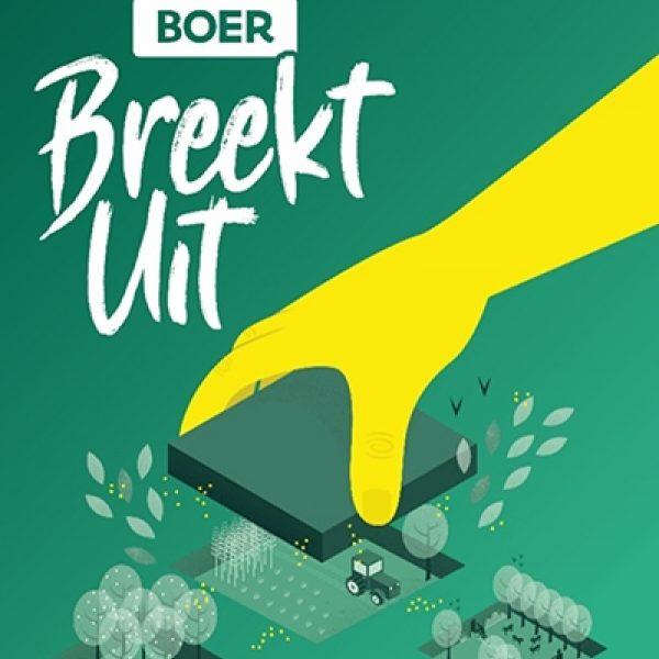 Poster Boer breekt uit