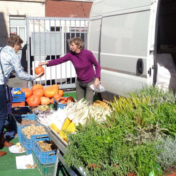Short chain vegetable and plant sales out of a van