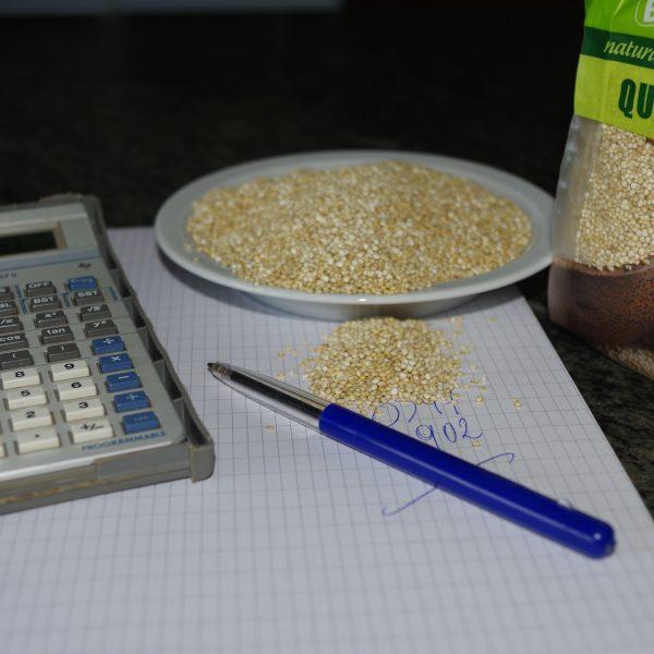 Quinoa and a calculator