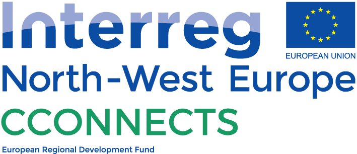 Interreg North-West Europe C-Connects logo with European flag