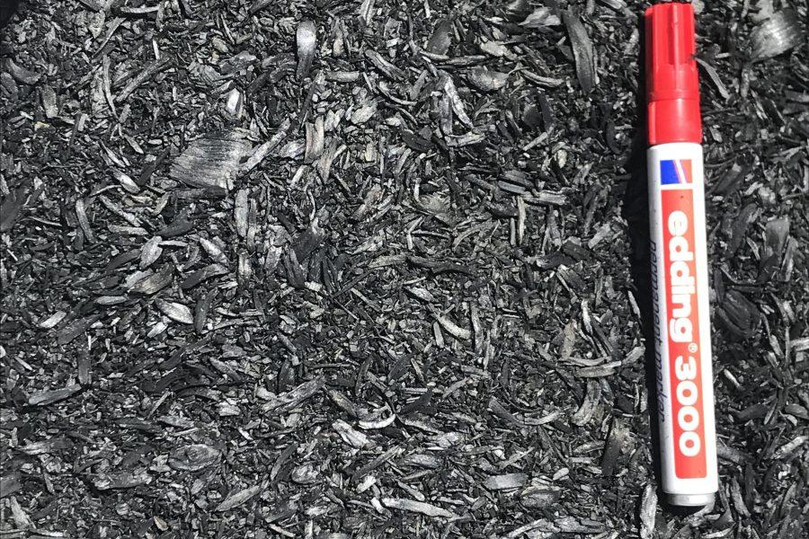 ECN TNO wood biochar Horti Blue C sample
