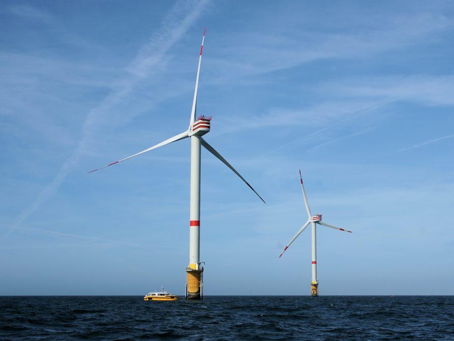 Wind turbines on the Thornton bank
