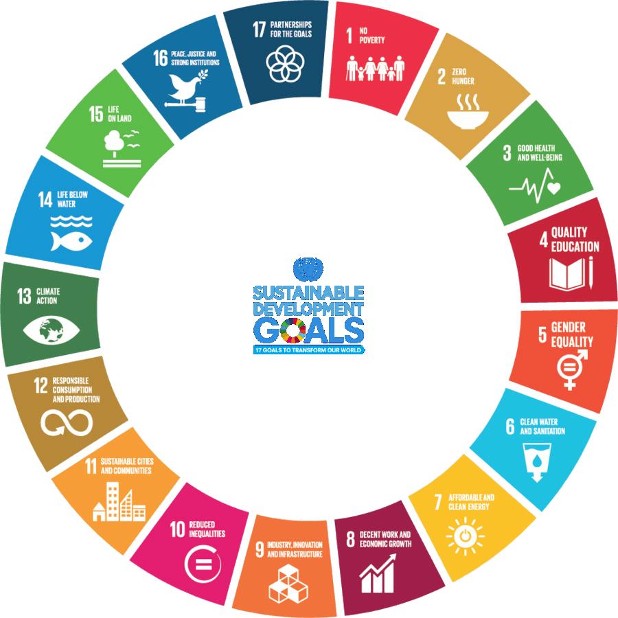 Cirkel met de 17 SDG's